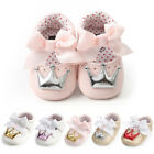 Newborn Infant Baby Girls Crown Princess Shoes Soft Sole Anti slip Sneakers