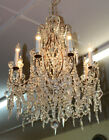 Gorgeous Italian Made French Style Louis XV Hand Cut Crystal 8 Light Chandelier