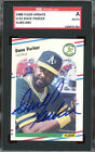 1988 Fleer Update #U55 Dave Parker Autograph SGC Authentic 1389970-003