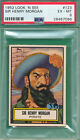 PSA 6 EX-MT 1952 LOOK 'N SEE #123 SIR HENRY MORGAN PIRATE GRADED TOPPS CARD *O