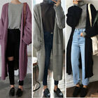 Womens Cardigan Outwear Warm Long Sleeve Knitted Sweater Trench Coat Jacket