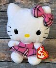 Ty Beanie Baby ~ HELLO KITTY (PINK TARTAN PLAID)