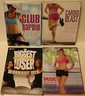 4 workout exercise fitness music cd set lot audio club cardio biggest loser mix