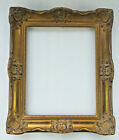 ANTIQUE FRENCH BAROQUE 16'' HIGH WOODEN ORNATE PICTURE FRAME FOR OIL PAINTING