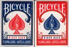 Mini Bicycle Rider Back Playing Cards 2 Deck Set Blue  Red USPCC Great 4 Kids