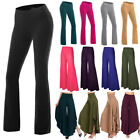 Women High Waist OL Harem Boot Cut Yoga Pants Casual Trousers Stretch Sports OBS