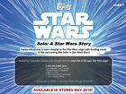 2018 Topps Solo : A Star Wars Story Factory Sealed Hobby Box ( 2 Hits box )