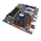 Asus P5Q Deluxe motherboard with Intel XEON quad Core CPU fan and 8gb ram