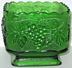 Green Candy Dish Embossed With Grapes on Vine.