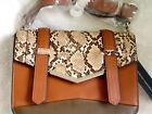French Connection Tan Snake Remy Faux Leather Cross Body Bag New RRP 65