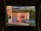 Revell Motel Diorama with '60 Chevy Corvette 1:24 Scale Model kit #7802 New!!
