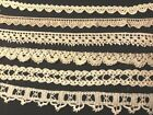 Six Fragments Samles Gorgeous Antique/Vintage Crochet Laces Trim, Edgings Insert