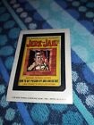 1975 Wacky Packages Jerk in Jail Magazine Collectible Card, Brown Back