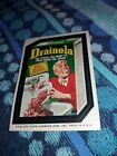 1975 Wacky Packages Drainola Cereal Collectible Card, Brown Back