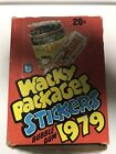 Wacky Packages Stickers Topps 1st Series Wax Box Of 36 Packs From 1979