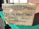 VINTAGE  Dovetailed  Wood DuPont ELECTRIC BLASTING CAPS  SHIPPING CRATE/BOX