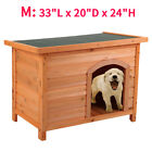 Weather Resistant Dog House Wooden Pet Shelter Cage Medium doggie Home Outdoor