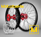 HONDA MX WHEELS FOR CRF250 CRF450 CRF450R CR250R ANY RIM/HUB COLOR COMBO + ROTOR