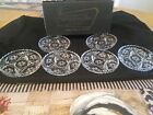 vintage Anchor Hocking 6 prescut coasters in original box Star of David