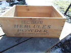 VINTAGE~ HERCULES POWDER HIGH  EXPLOSIVES GELATIN  WOOD BOX,50 # STICK DYNAMITE