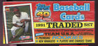 1991 Topps Traded Baseball Complete Set FACTORY SEALED Full card Box CHRISTMAS