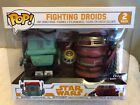 Funko Pop! STAR WARS FIGHTING DROIDS Bobble-Head 2 Pack Game Stop Exclusive NEW