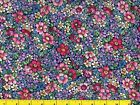 Purple Red Pink  Blue Meadow Flowers Quilting  Sewing Fabric by Yard 194