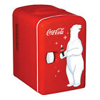 Compact 6-Can Portable Fridge Self-Locking Recessed Handle Thermoelectric cooler