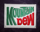MOUNTAIN DEW PATCH MOUNTAIN DEW LOGO SODA POP SOFT DRINKS DEW IT TO IT SEW IRON