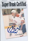 CHARLES PAULIN CANADIENS 92-93 PHPA PERSONAL AUTO SUPER BREAK CERTIFIED