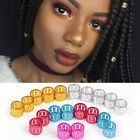 10/30/50tlg Dread Lock Dreadlocks Braiding Beads Gold Silber Cuffs Tube Haar#NEU