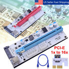 6 SET PCI-E 1x To 16x USB3.0 Mining Extender Board Riser GPU Card Adapter Cable