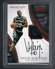 David Robinson 2016-17 Immaculate Patch Autographs Auto Jersey Patch Red # 25