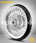 FAT SPOKE WHEEL 21X35 FOR HARLEY TOURING BAGGER ROTORS WHITE WALL TIRE MOUNTED