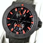 Ulysse Nardin 263-92-3C Maxi Marine Diver Rubber Date 45mm Red Black Sea Watch