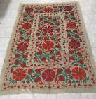 ANTIQUE UZBEK BEAUTIFUL 100%ORIGINAL HANDMADE  WALL DECOR EMBROIDERY SUZANI