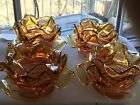 Amber Petal flower shades globe handmade glass chandelier and lighting old parts