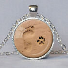 Fashion Lover Gift Charm Dog Paw Print Footprint Pendant Necklace Jewelry