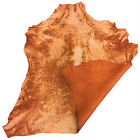 Sale Cognac Leather Hides Soft Lamb Skins Material Upholstery Craft Fabric FS674