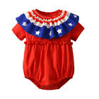 Toddler Infant Baby Girls Stars Striped Rompers Jumpsuit 4th Of July Outfits