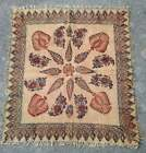 Antique Tapestry Wall Hanging Fringed Esfahan Hand Printed Cloth Cotton 31