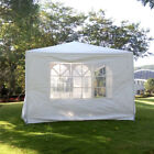 3 x 9m 7 Slices Portable Household Awning Canopy Waterproof Folding Tent White