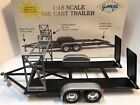 1 18 scale GMP Diecast black car hauler Trailer with tire rack 118 scale