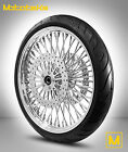 FAT SPOKE WHEEL 21X35 FOR HARLEY TOURING BAGGER W ROTORS TIRE MOUNTED BALANCED