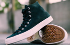Mens Converse Chuck Taylor All Star Nubuck Hi Tops Leather Suede Sneakers Black