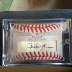 (RARE)Rollie Fingers 2006 TOPPS STERLING CUTS BASEBALL LEATHER ON CARD AUTO,