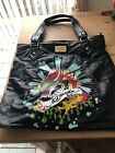 Ed Hardy Tote Bag with dust bag