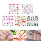 1Sheet Cute Cartoon Kids Safety Nail Stickers DIY Makeup Nail Art Christma 'TOCA