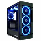 CUK Stratos Full ATX Tower Gaming Desktop Case with 7 RGB Halo Fans, LED via +