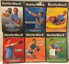 6 Kettleworx Kettlebell workout exercise fitness DVD lot six week body core abs